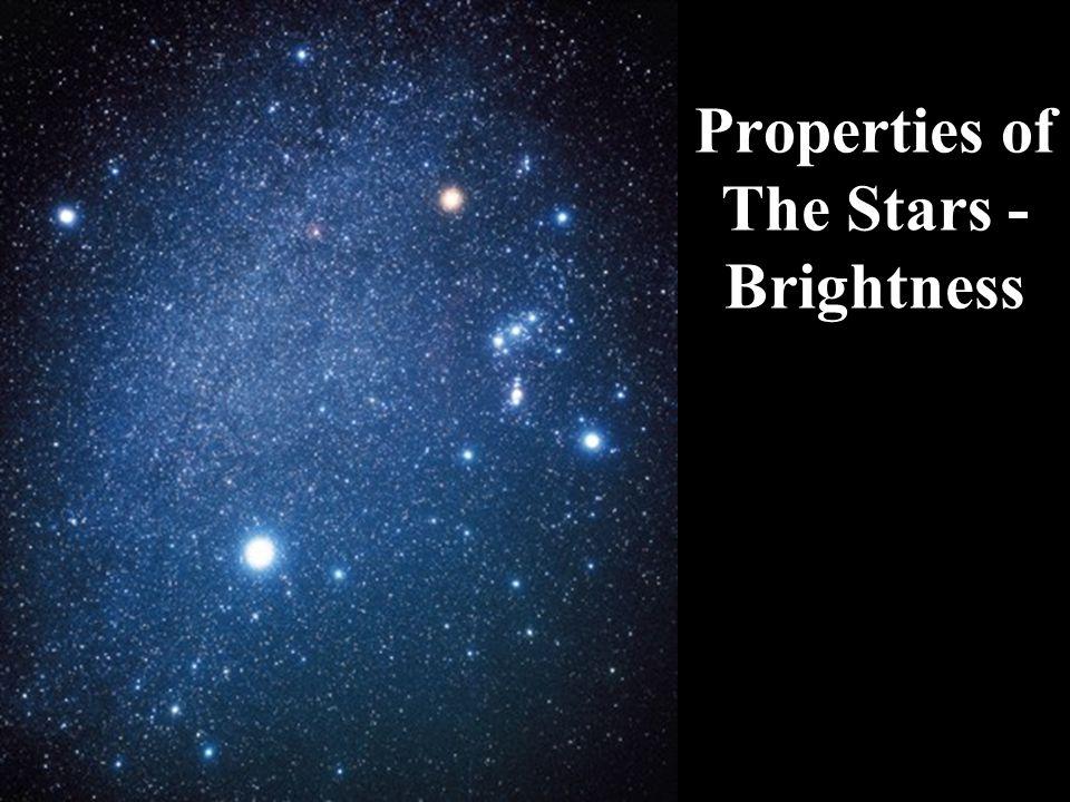 Properties of The Stars - Brightness