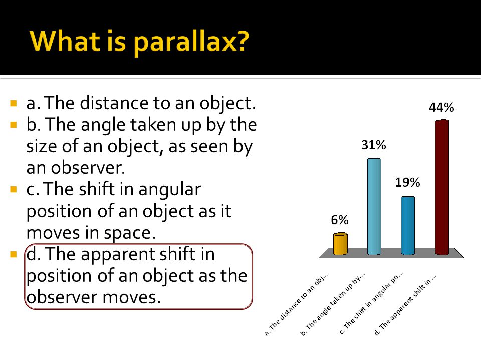  a. The distance to an object.  b.