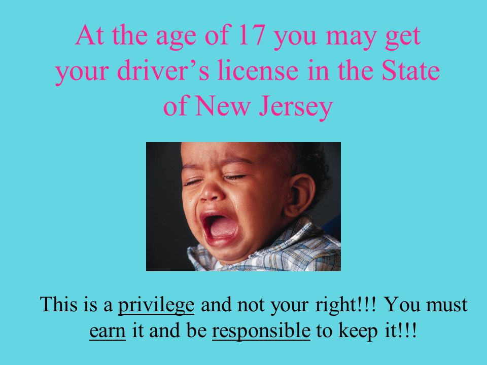 Driver Education Introduction to driving in New Jersey Notes