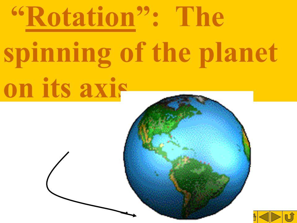 Revolution : Means going in an orbit around the sun.