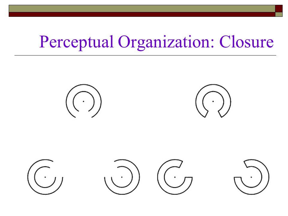 Perceptual Organization: Closure  Gestalt grouping principles are at work here.