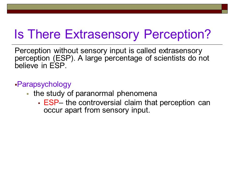 Is There Extrasensory Perception.