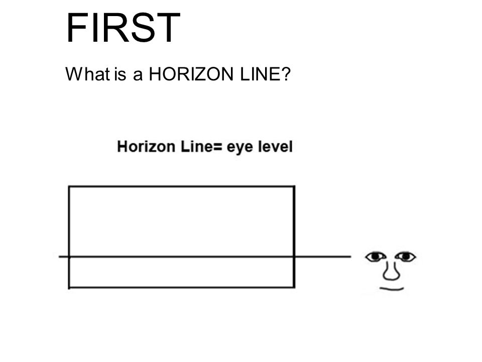 FIRST What is a HORIZON LINE?