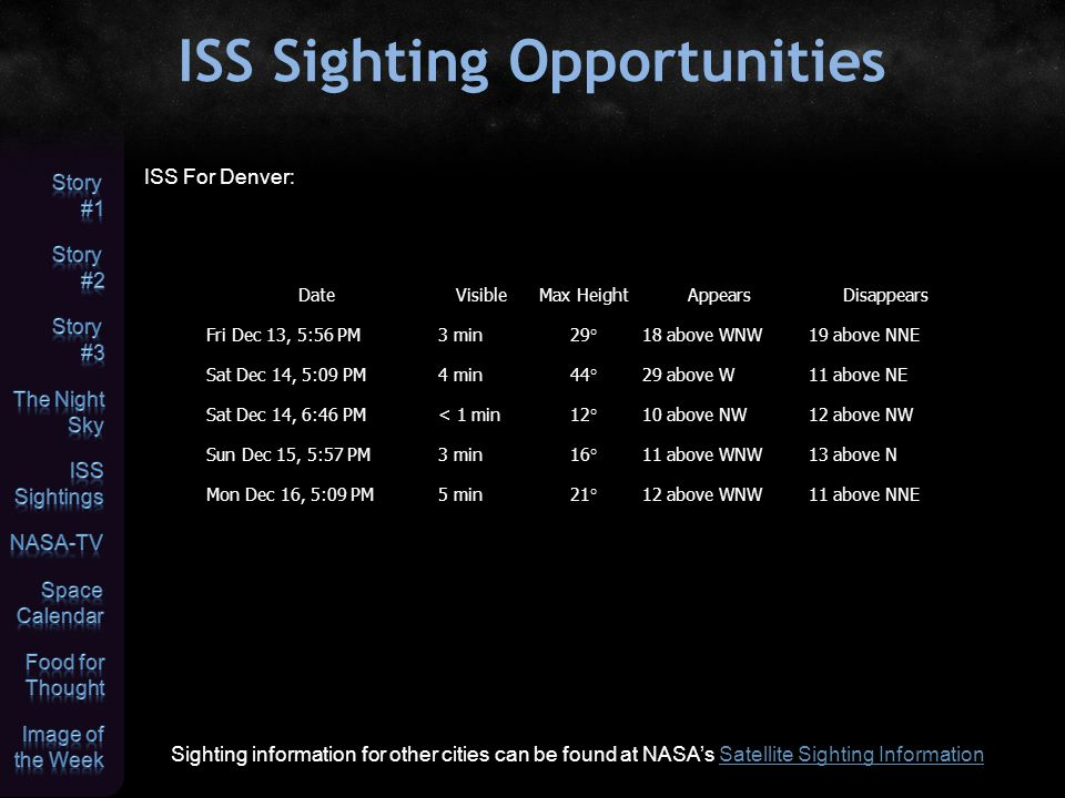 NASA-TV Highlights (all times Eastern Daylight Time) December 13, Friday 9:40 a.m.