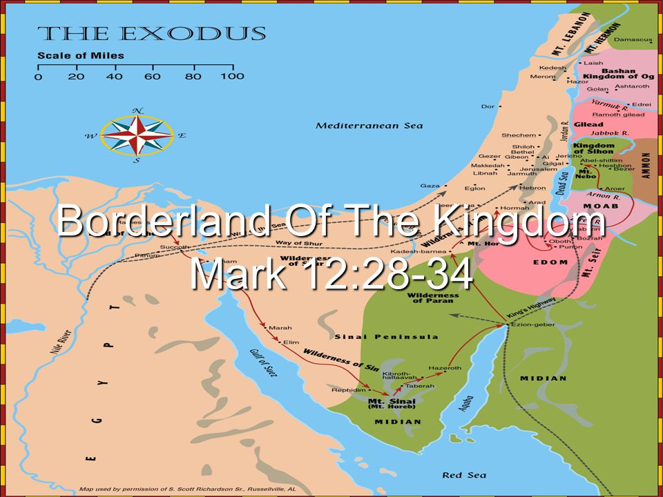 Borderland Of The Kingdom Mark 12:28-34
