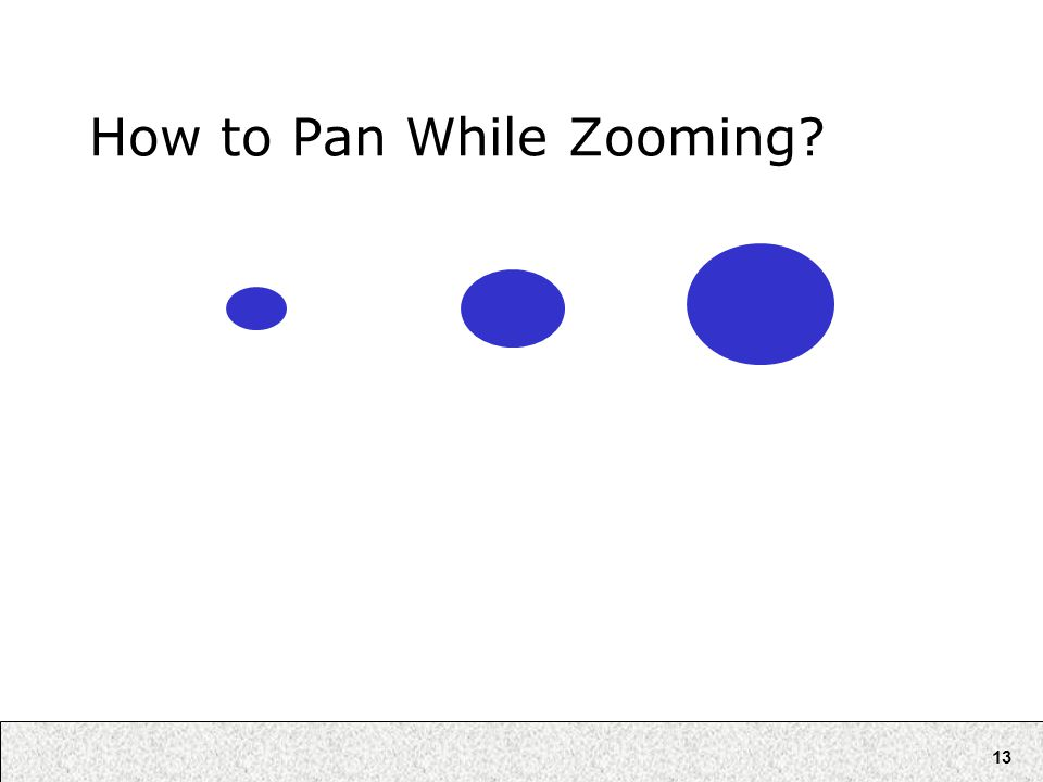 13 How to Pan While Zooming?