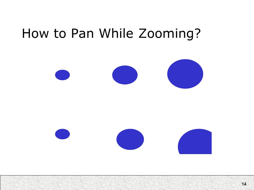 14 How to Pan While Zooming?