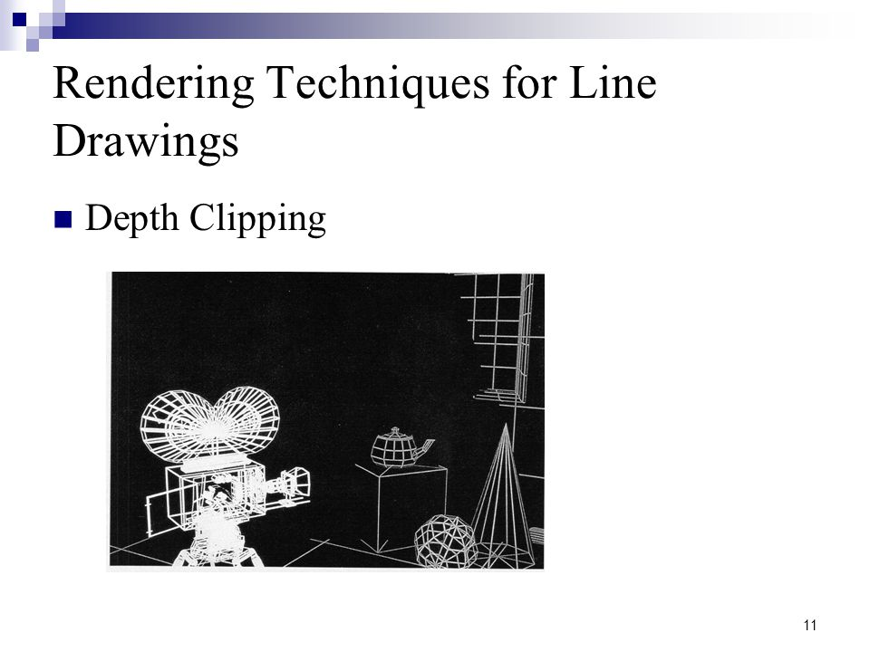 11 Rendering Techniques for Line Drawings Depth Clipping