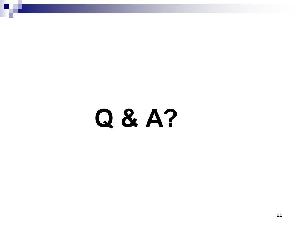44 Q & A?