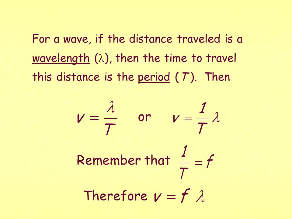 4.WAVE SPEED The average speed of anything is defined as