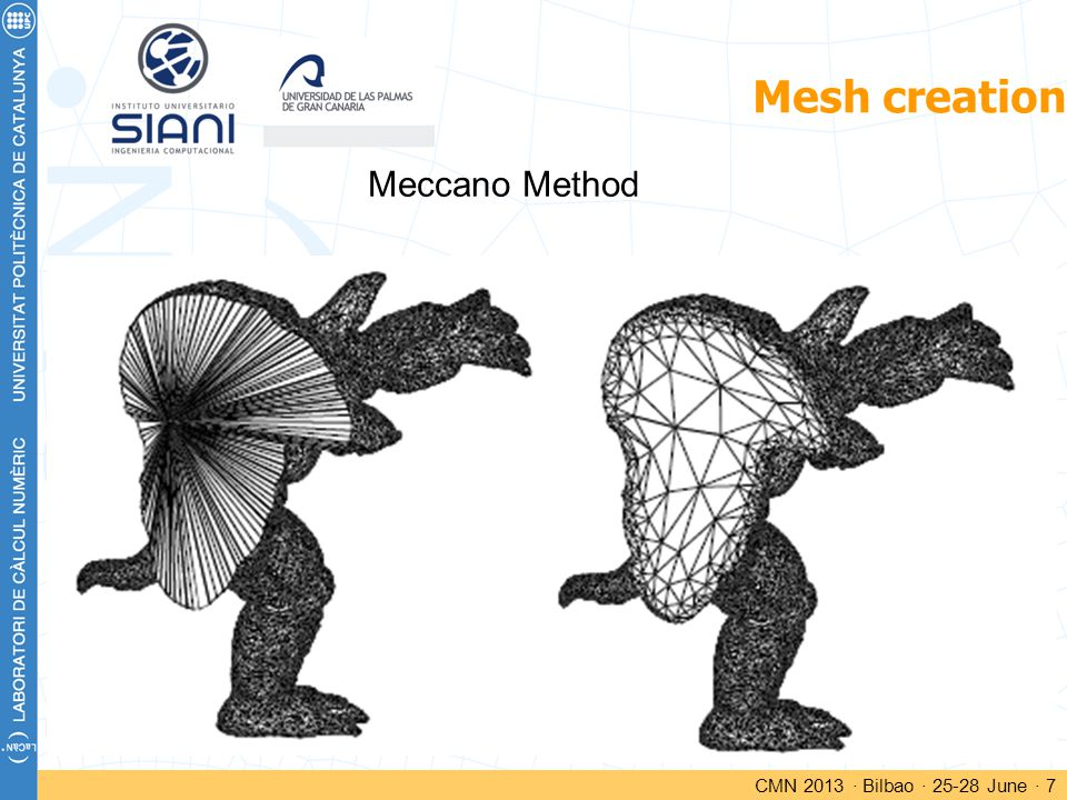 Mesh creation CMN 2013 · Bilbao · 25-28 June · 7 Meccano Method
