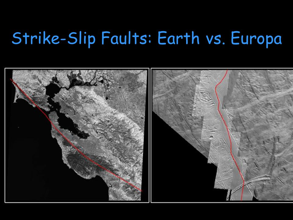 Strike-Slip Faults: Earth vs. Europa