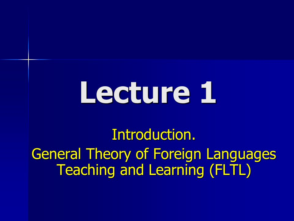 PLAN 1.The goals of the course. 2. Complexity of the term notion Method in FLTL.