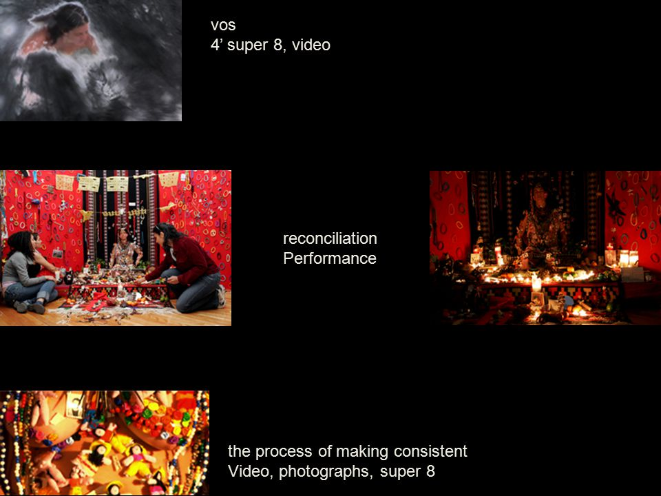 vos 4' super 8, video reconciliation Performance the process of making consistent Video, photographs, super 8