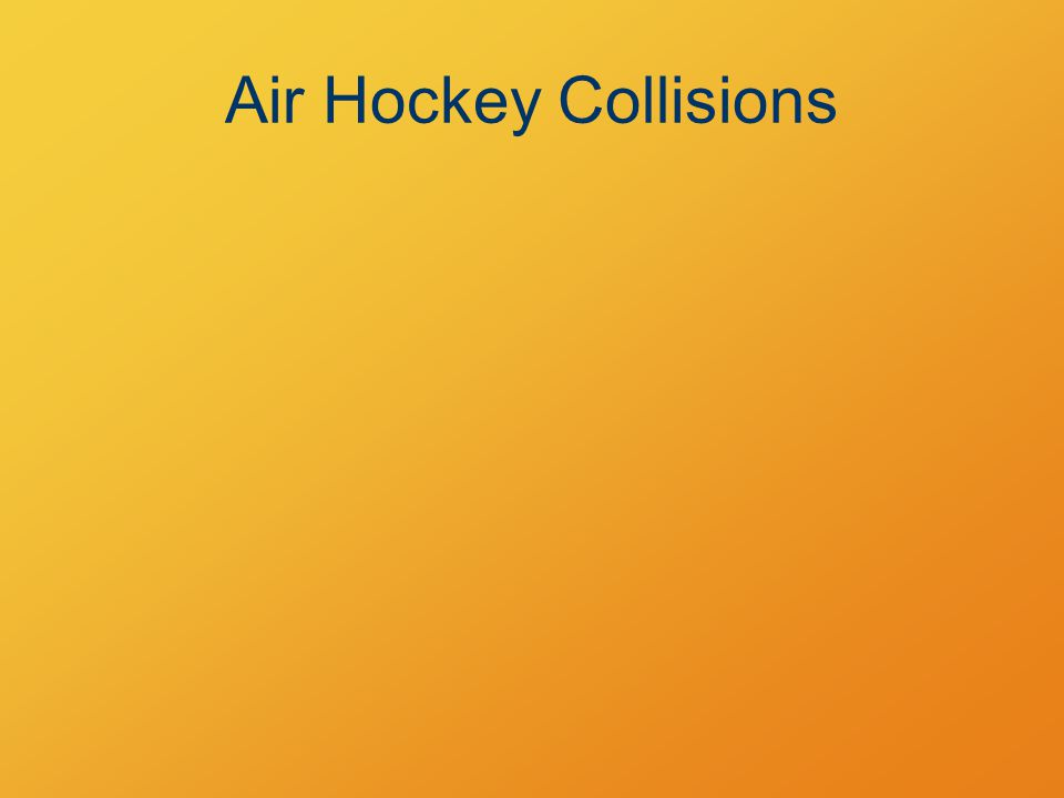 Air Hockey Collisions