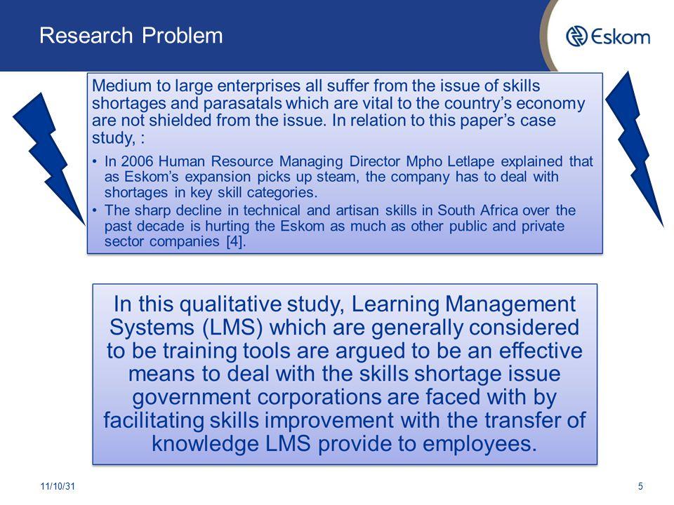 Research Problem 11/10/315