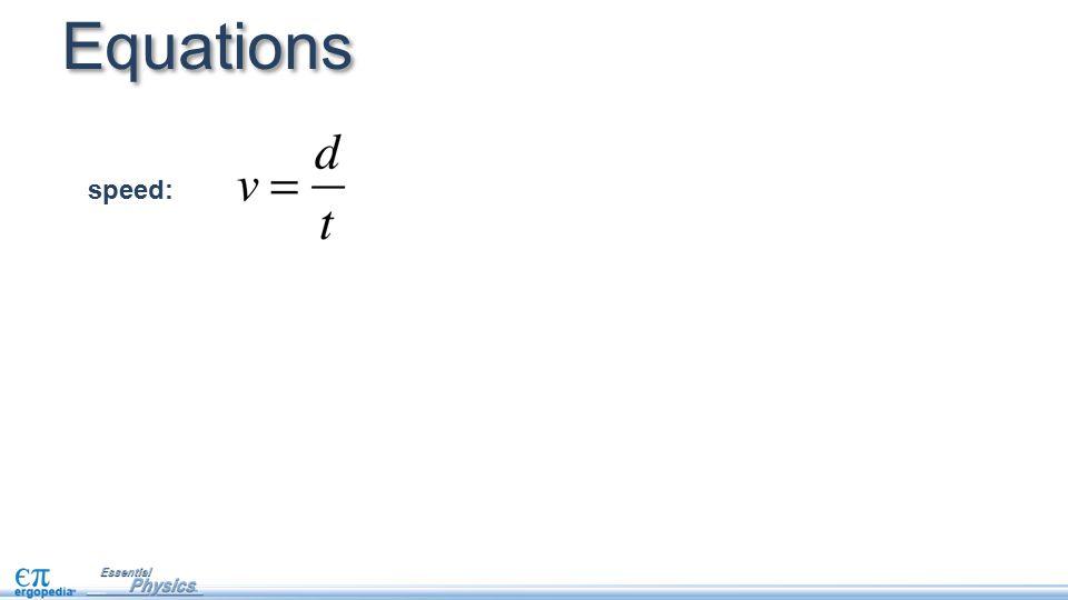 Equations speed: