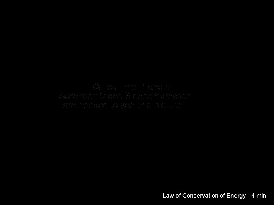 Law of Conservation of Energy - 4 min