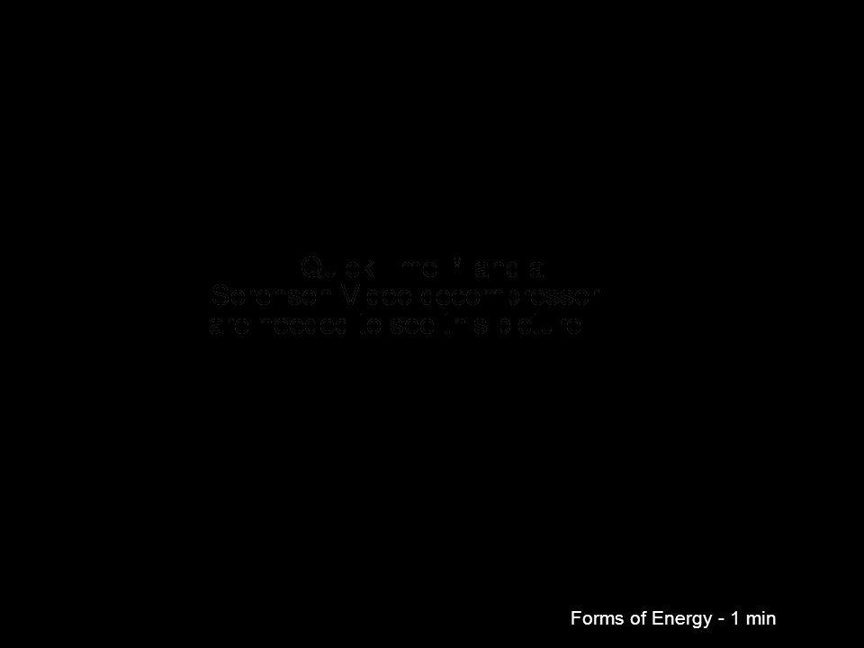 Forms of Energy - 1 min