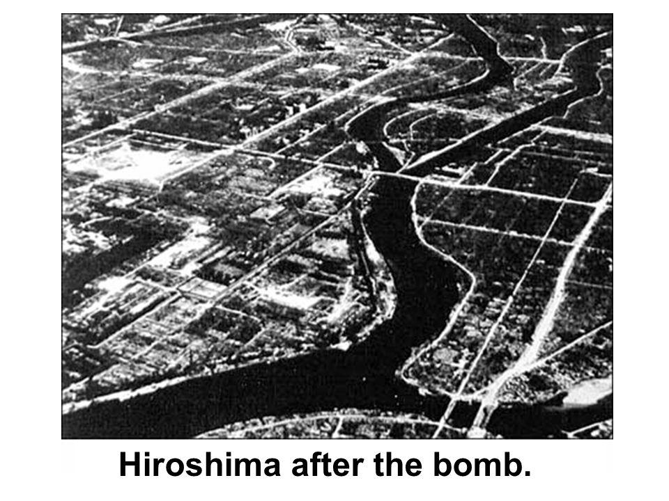 Hiroshima after the bomb.