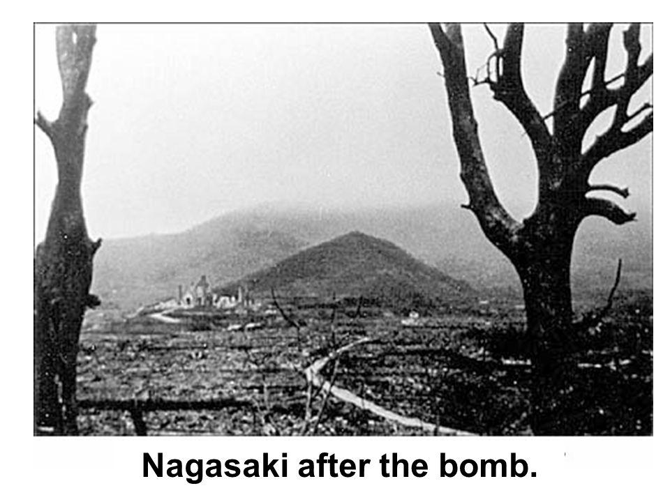 Nagasaki after the bomb.