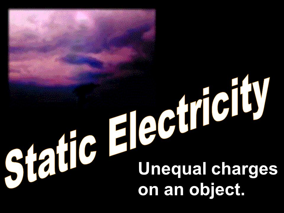 Unequal charges on an object.