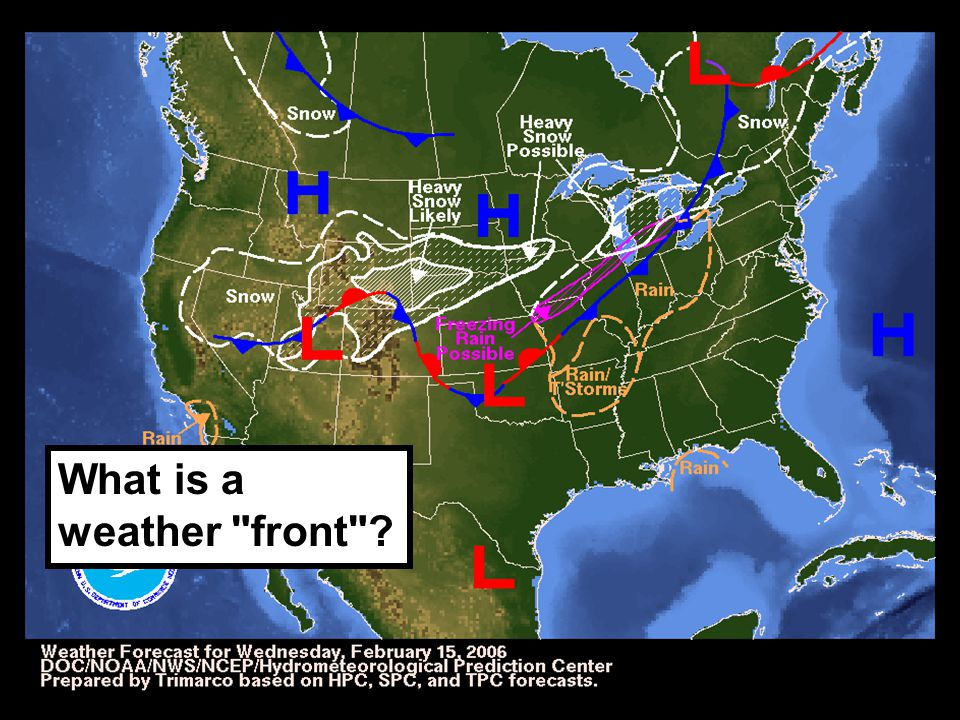 What is a weather front ?
