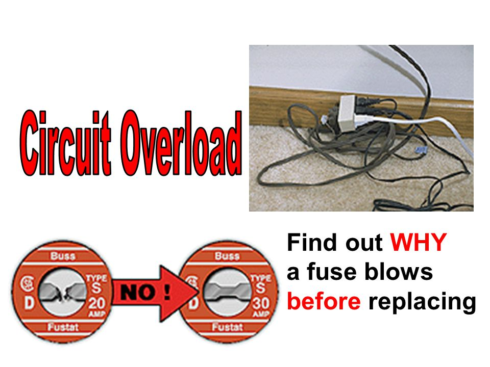 Find out WHY a fuse blows before replacing