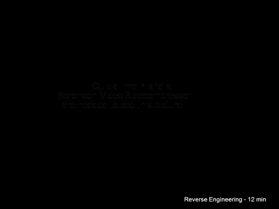 Reverse Engineering - 12 min