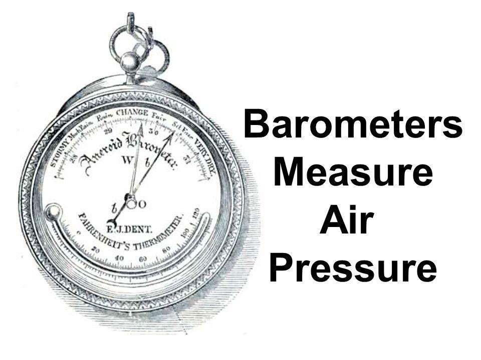 Barometers Measure Air Pressure