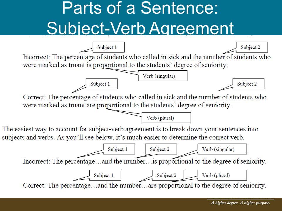 Parts of a Sentence: Pronoun-Noun Agreement