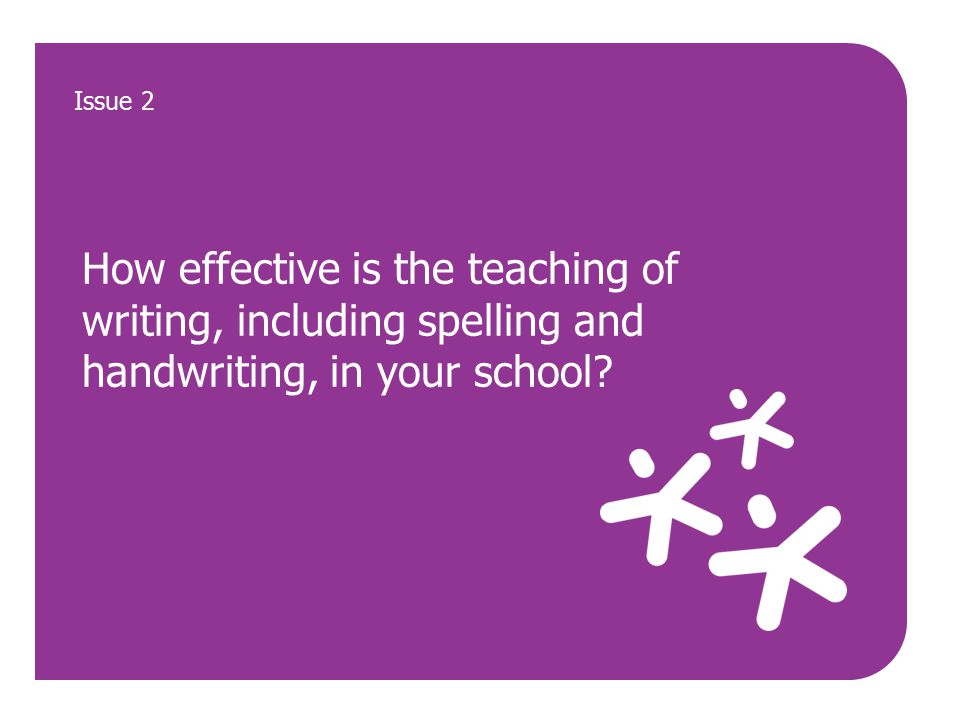 How effective is the teaching of writing, including spelling and handwriting, in your school.