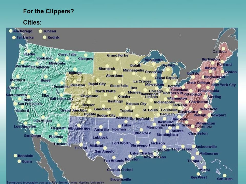 For the Clippers? Cities: