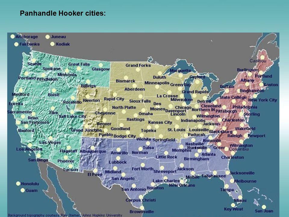 Panhandle Hooker cities: