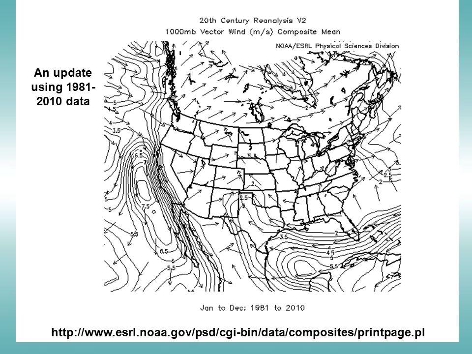 http://www.esrl.noaa.gov/psd/cgi-bin/data/composites/printpage.pl An update using 1981- 2010 data