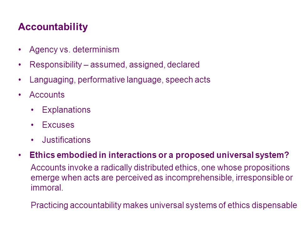 Accountability Agency vs.