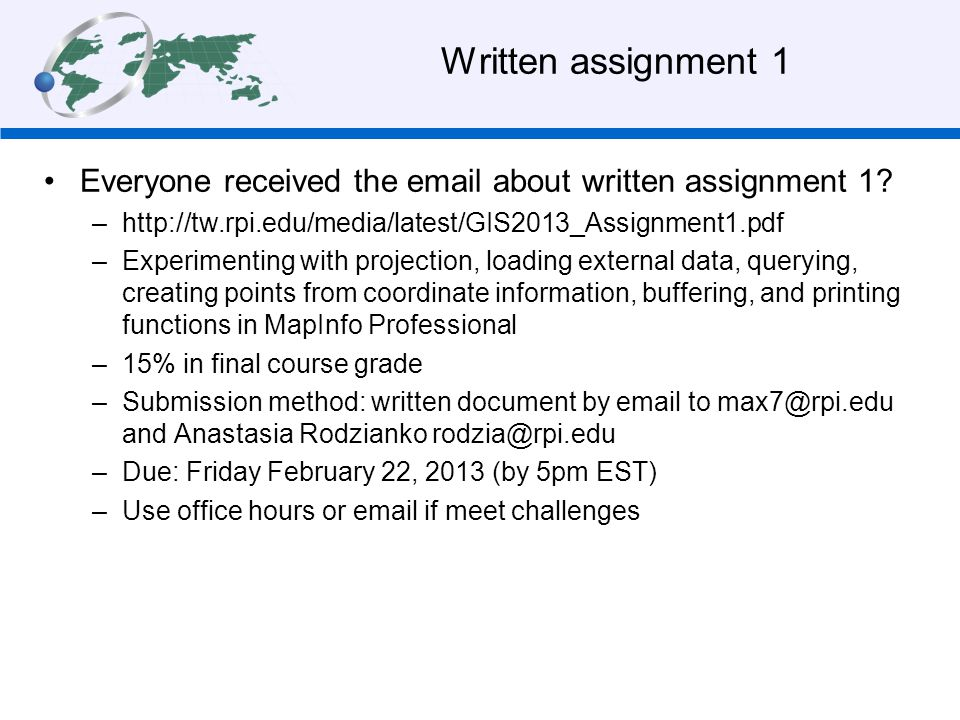 Acknowledgements The lecture of today is partly based on: –Rossiter, D.G., 2012.