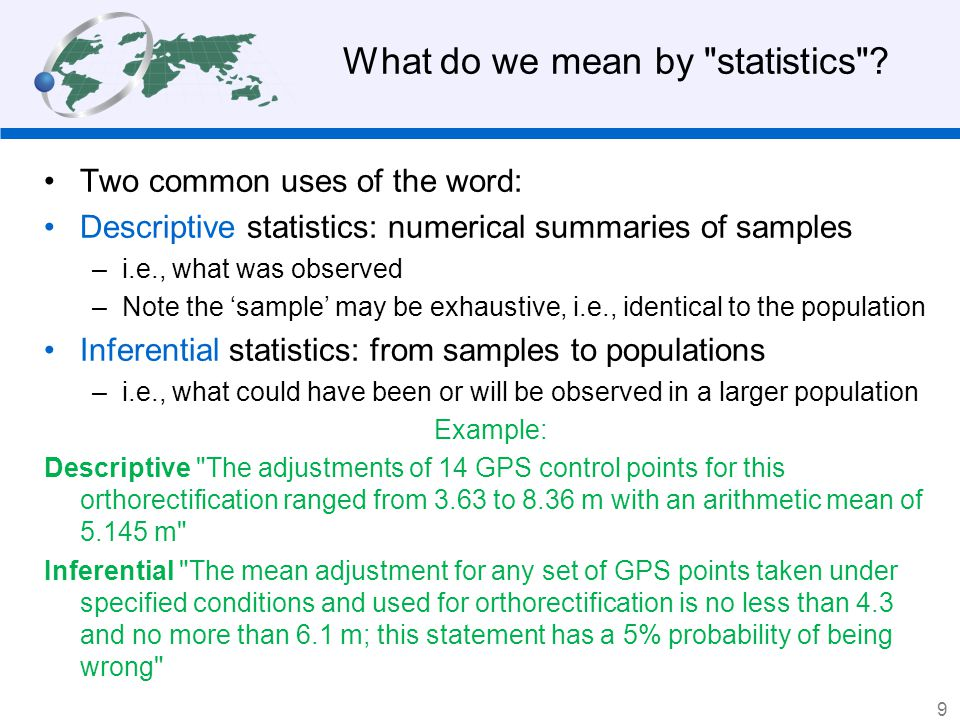 You are probably quite familiar with feature space from your study of non-spatial statistics.