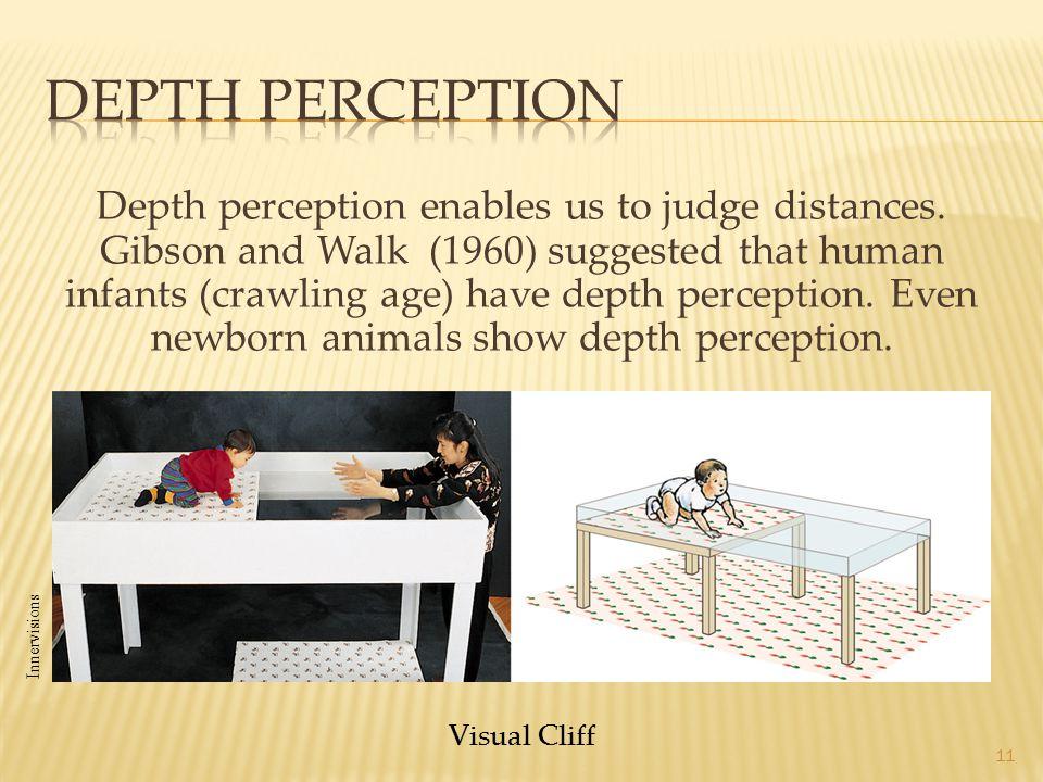 11 Visual Cliff Depth perception enables us to judge distances.
