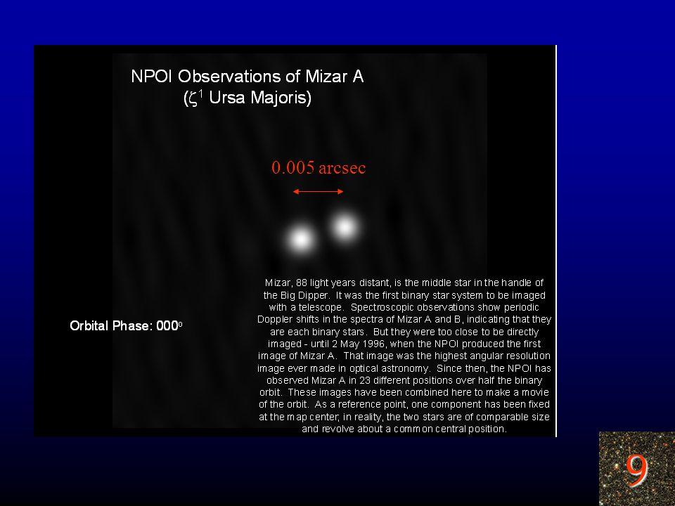 9 0.005 arcsec