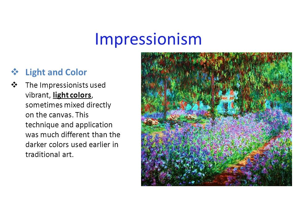 Impressionism  Everyday Life  The impressionists tried to paint what they saw at a given moment.