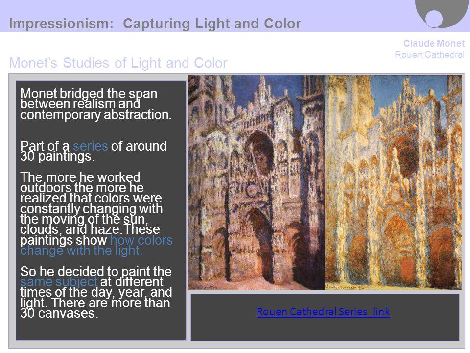 Impressionism Claude Monet  IMPRESSION, SUNRISE ,1872 gave the name to the entire Impressionist movement.