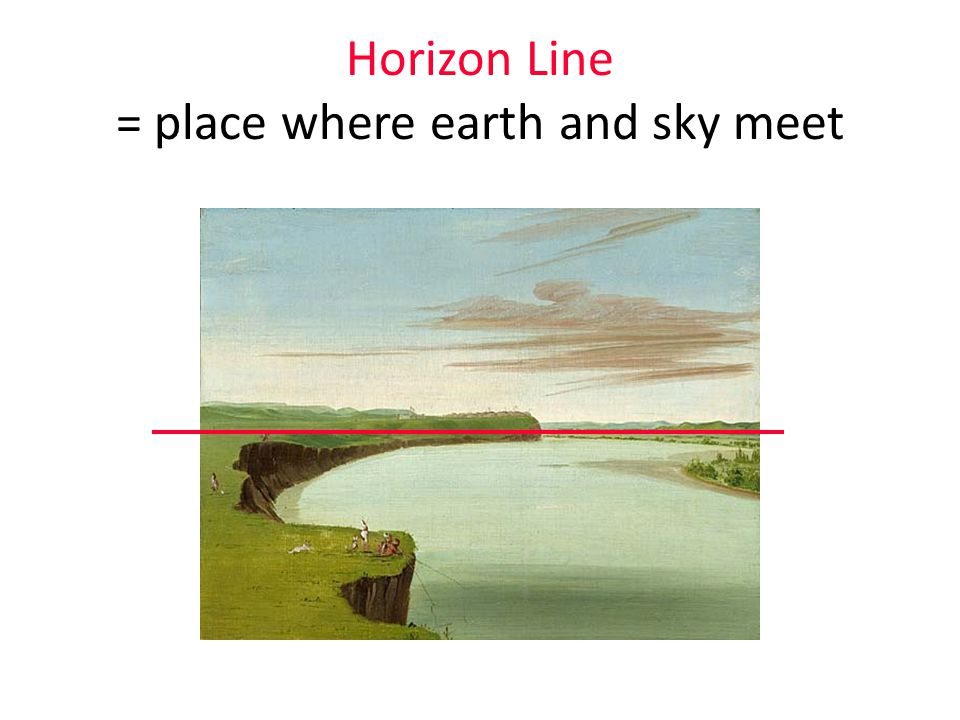 Review: where's the foreground, middle ground, background, horizon line ??