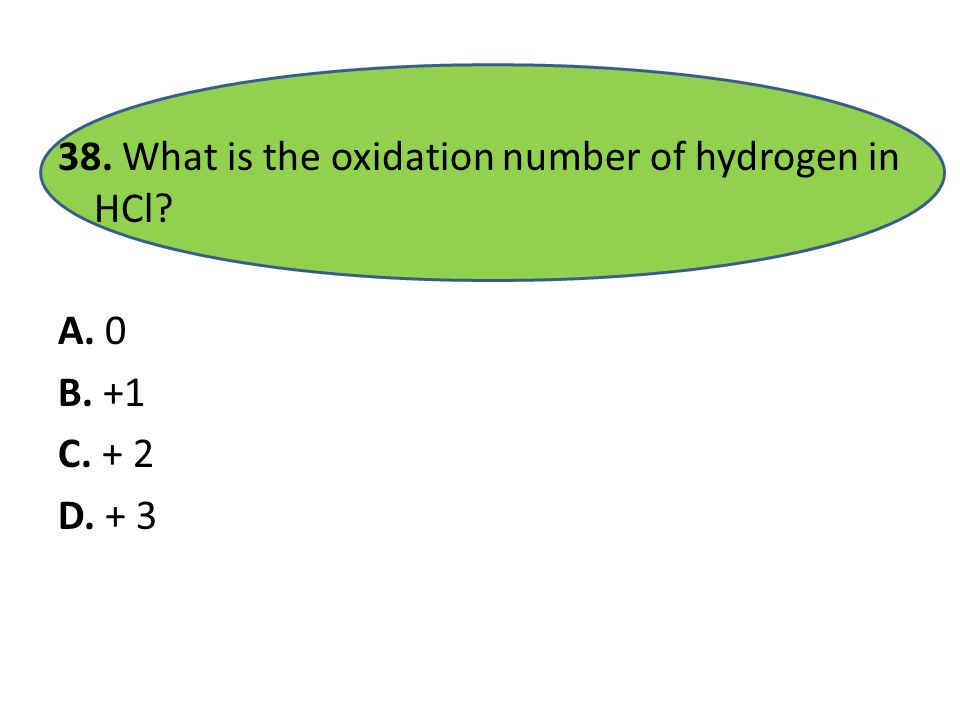 37. What is the oxidation number of nitrogen in most compounds A. -3 B. -2 C. -1 D. + 1