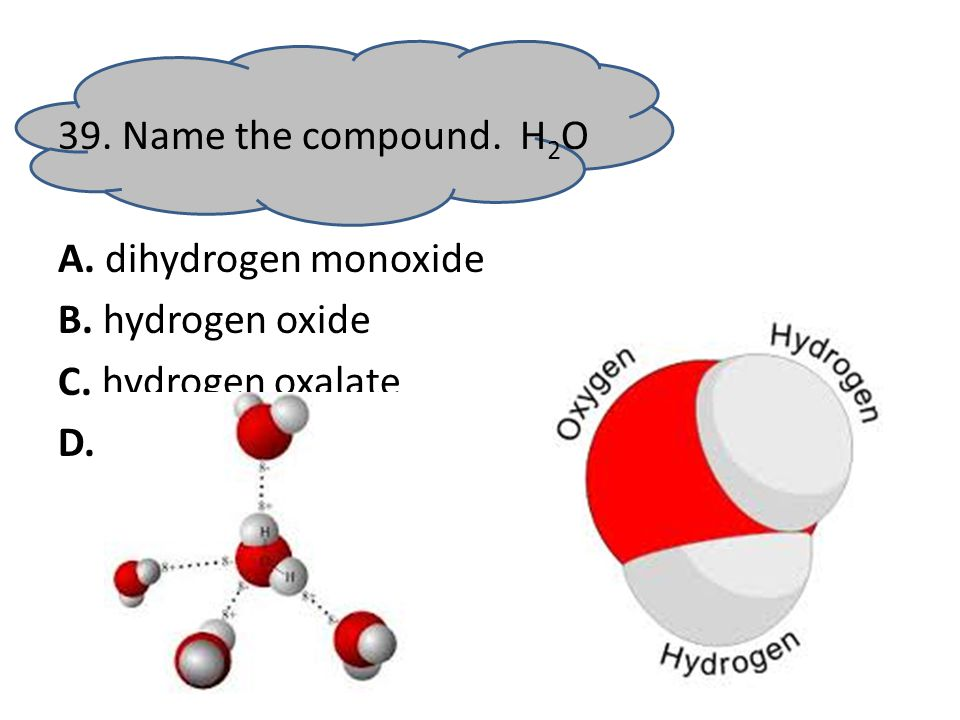 38. What is the oxidation number of hydrogen in HCl A. 0 B. +1 C. + 2 D. + 3