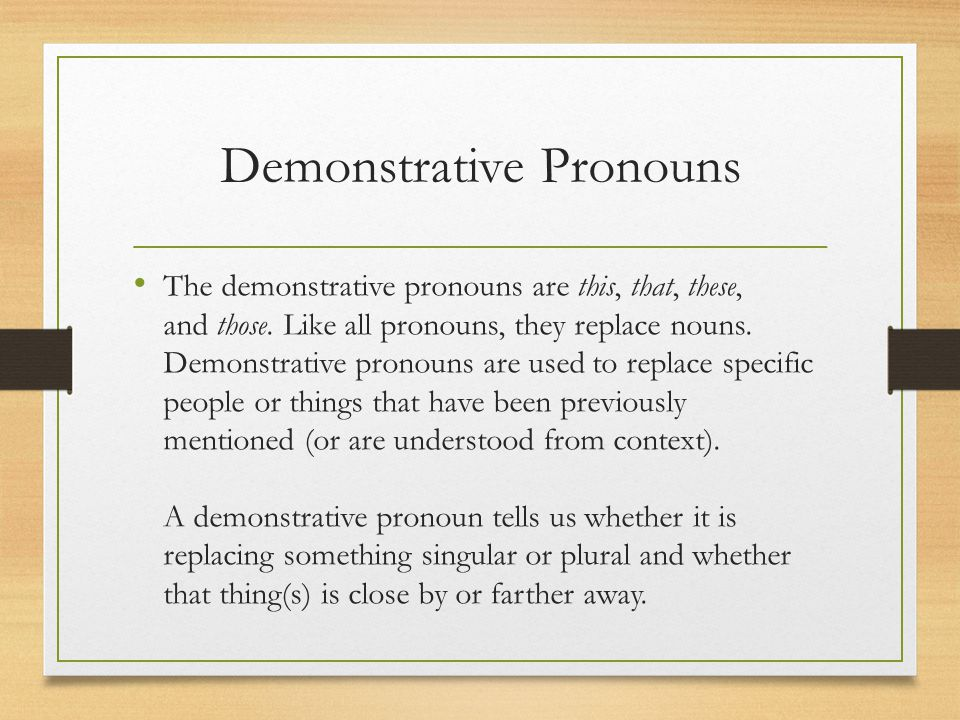 Examples Possessive Adjectives my Possessive Adjectives your his her its our their whose Absolute Possessive Pronouns mine Absolute Possessive Pronouns yours his hers ours theirs