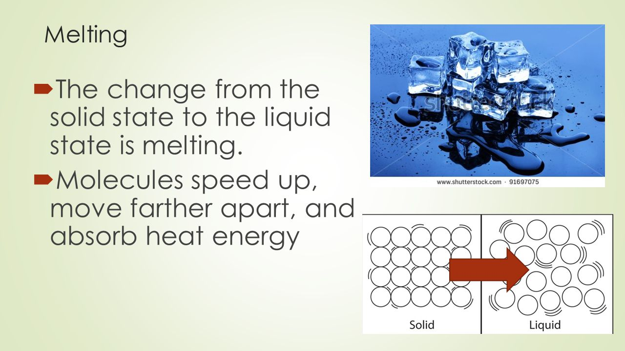 Freezing  The change from the liquid state to the solid state is called freezing.
