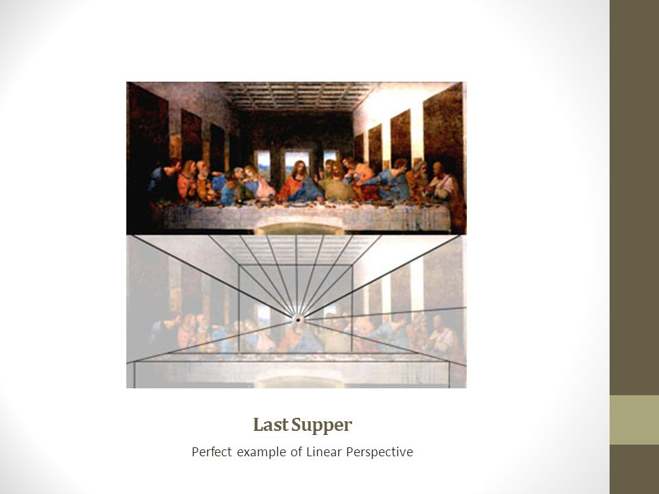 Last Supper Perfect example of Linear Perspective