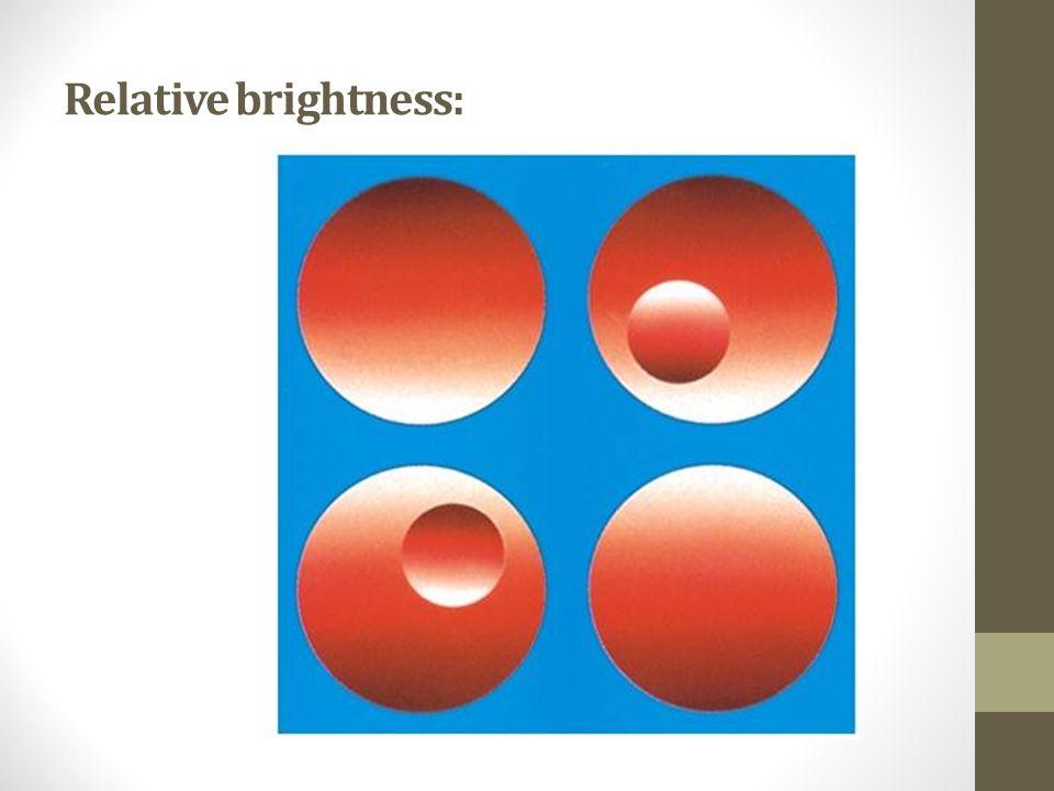 Relative brightness: