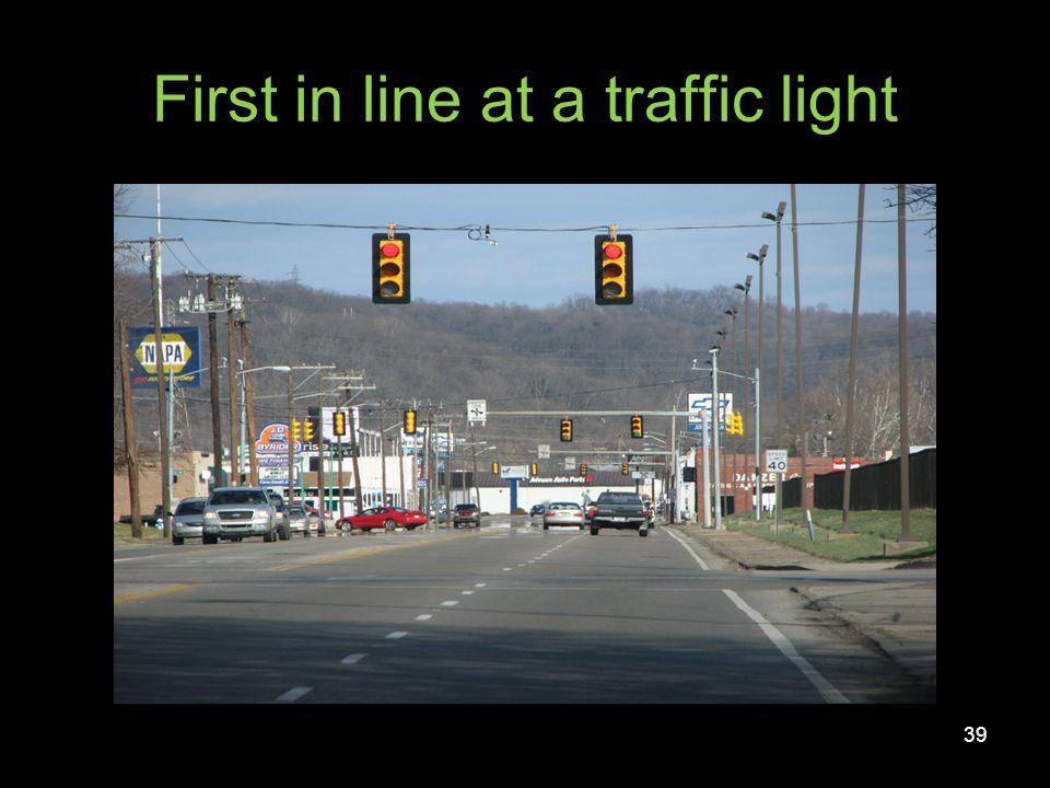 Traffic light with left turn arrow 40